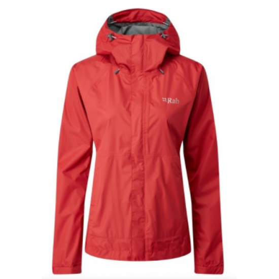 Wmns Rab Downpour Jkt Red